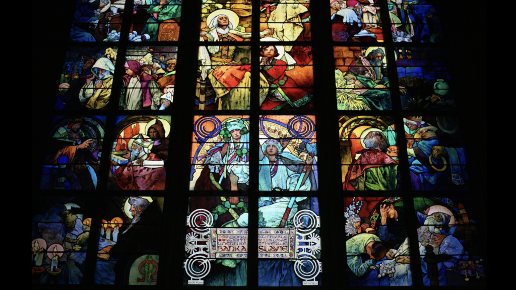 Stained glass in Prague