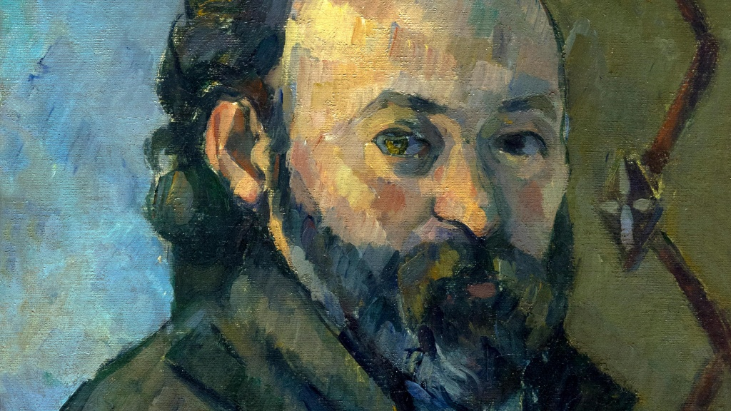 Painting of Paul Cézanne