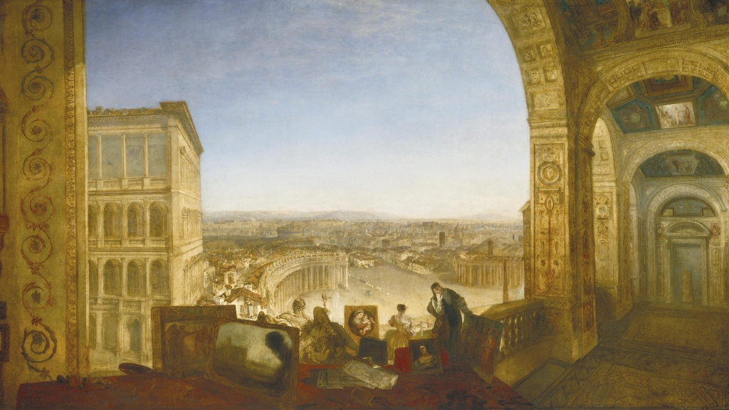 London Art Studies Joseph Mallord William Turner J.M.W. Rome, from the Vatican. Raffaelle, Accompanied by La Fornarina, Preparing his Pictures for the Decoration of the Loggia
