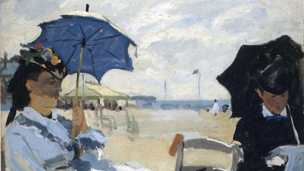 The Beach at Trouville - Monet