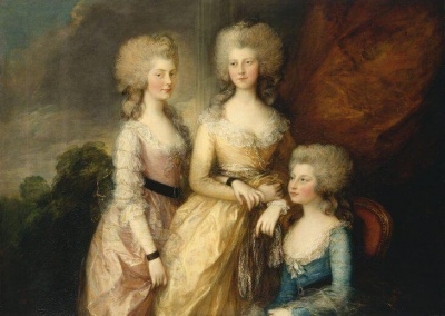 Three princesses by Gainsborough. Image: Royal Collection Trust / (c) Her Majesty Queen Elizabeth II 2019