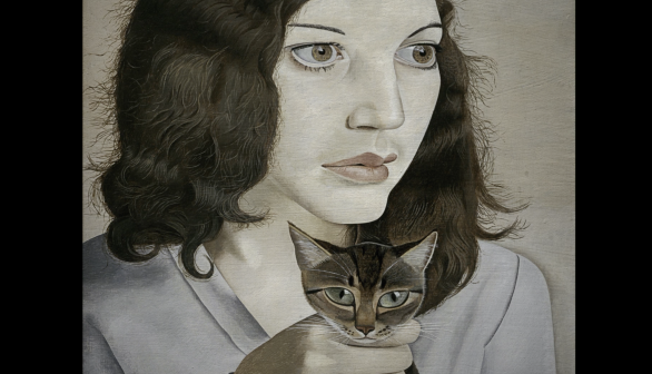 London Art Studies Lucian Freud Girl with a Kitten