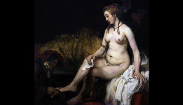 London Art Studies Rembrandt van Rijn Bathsheba at Her Bath