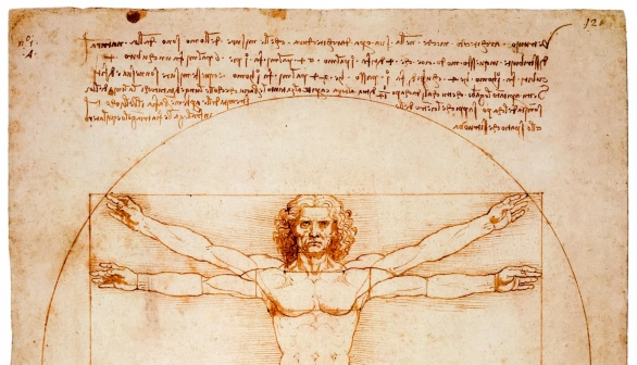 London Art Studies Leonardo da Vinci Vitruvian Man