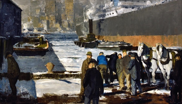 London Art Studies George Bellows Men of the Docks