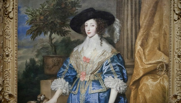 London Art Studies Anthony van Eyck Queen Henrietta Maria with Sir Jeffrey Hudson